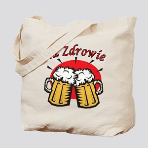 Na Zdrowie Toast With Beer Mugs Tote Bag