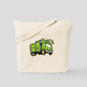 Garbage Rubbish Truck Cartoon Tote Bag