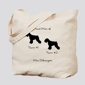 2 Schauzers - Cropped Tails/Natural Ears Tote Bag