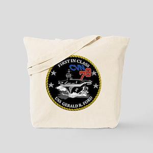 USS Gerald R. Ford CVN 78 Tote Bag
