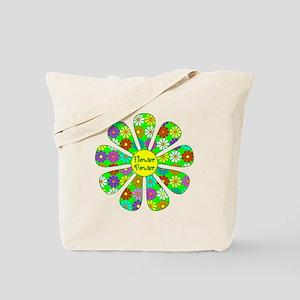 Cool Flower Power Tote Bag