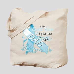 I Wear Light Blue Because I Love My Dad Tote B