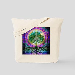 Tree of Life World Peace Tote Bag