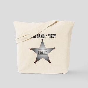 Custom Sheriff Badge Tote Bag