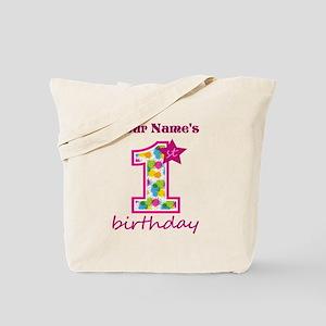 1st Birthday Splat - Personalized Tote Bag