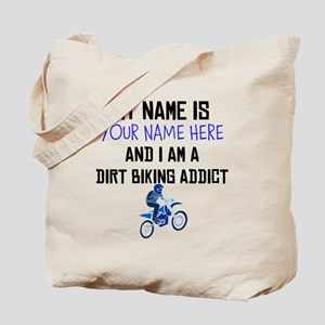 Custom Dirt Biking Addict Tote Bag
