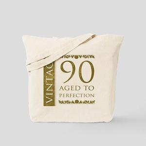 Fancy Vintage 90th Birthday Tote Bag