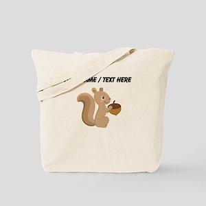 Custom Cartoon Squirrel Tote Bag