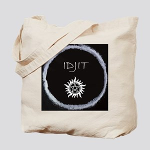 "Supernatural ""Idjit"" badge Tote Bag"