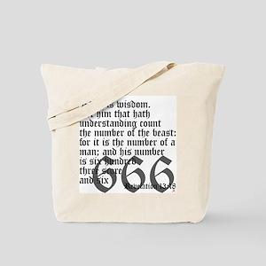 Revelation 13:18 Tote Bag