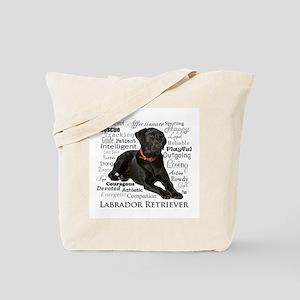 Black Lab Traits Tote Bag