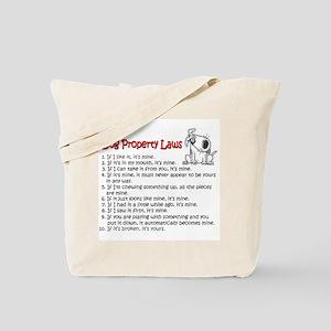 Dog Property Laws Tote Bag