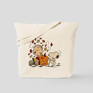 Fall Peanuts Tote Bag