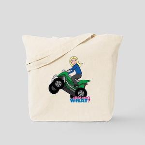 ATV Woman Blonde Tote Bag