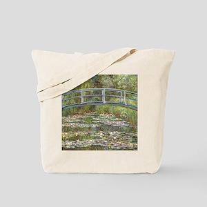 Monet Bridge over Water Lilies Tote Bag