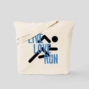 Live, Love, Run Tote Bag