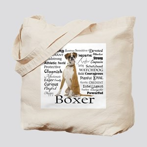 Boxer Traits Tote Bag