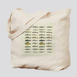 Freshwater Fish Chart Tote Bag