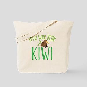 Im a wee little kiwi (New Zealand map) Tote Bag
