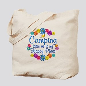 Camping Happy Place Tote Bag