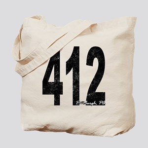 Distressed Pittsburgh 412 Tote Bag