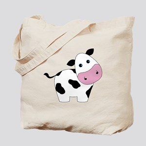 Cute Black and White Cow Tote Bag