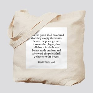 LEVITICUS  14:36 Tote Bag