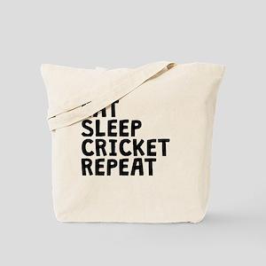 Eat Sleep Cricket Repeat Tote Bag