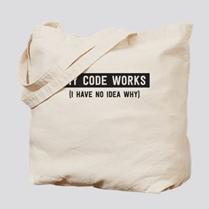My code works no idea why Tote Bag