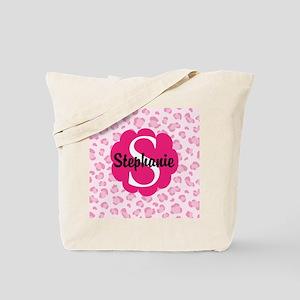 Personalized Pink Name Monogram Gift Tote Bag