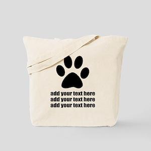 Dog's paw Tote Bag
