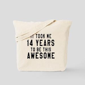 14 Years Birthday Designs Tote Bag