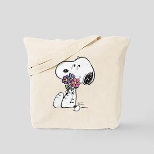 Springtime Snoopy Tote Bag