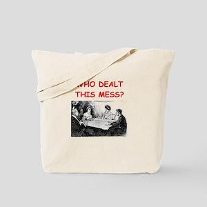 funny bridge joke on gifts and t-shirts Tote Bag