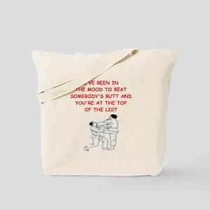 martial arts joke Tote Bag