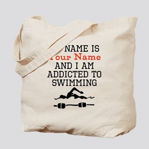 Swimming Addict Tote Bag