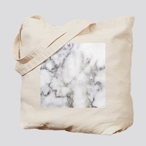 Trendy white and gray marble texture prin Tote Bag