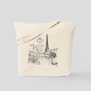 Cafe Paris Tote Bag
