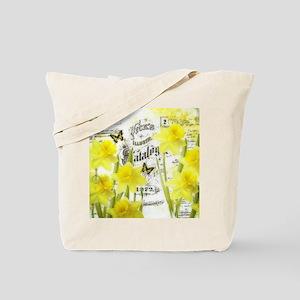 Vintage daffodils Tote Bag