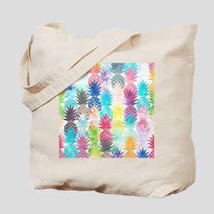 Hawaiian Pineapple Pattern Tropical Water Tote Bag