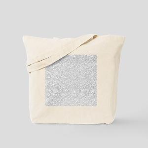 Silver Gray Glitter Sparkles Tote Bag