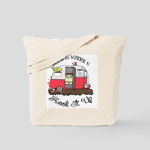 vintage red shasta Tote Bag