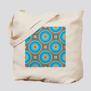 Orange and Blue Mid Century Modern Tote Bag