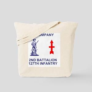 ARNG-127th-Infantry-A-Co-Shirt-4-Blue Tote Bag