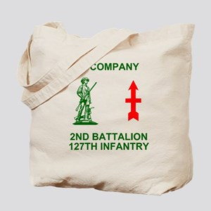 ARNG-127th-Infantry-A-Co-Shirt-4-Green.gi Tote Bag
