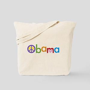 Peace, Love, Obama Tote Bag