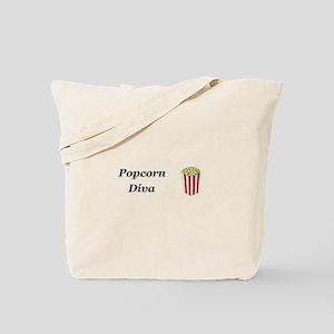 Popcorn Diva Tote Bag