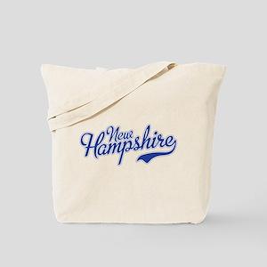 New Hampshire Script Font Tote Bag