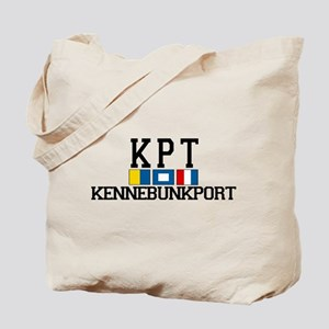 Kennebunkport ME - Varsity Design. Tote Bag