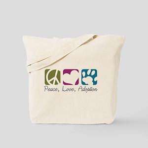 Peace, Love, Adoption Tote Bag